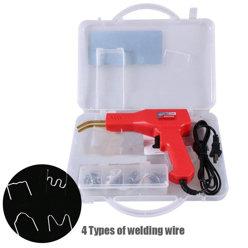 Plastic Welding Gun Heating Fuser Welder Machine Welding Nail Repair 4 Types Welding Wire Tool Car Bumper Repairing Hot Stapler