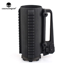 emersongear Tactical Cup Black Aluminum Outdoor Mug 610ml Portable Hunting Battle Military Bottle Detachable Camping Travel Mug outdoor camping cookware survival tactical glass beer mug promotion separation aluminum alloy black water cup for tourism