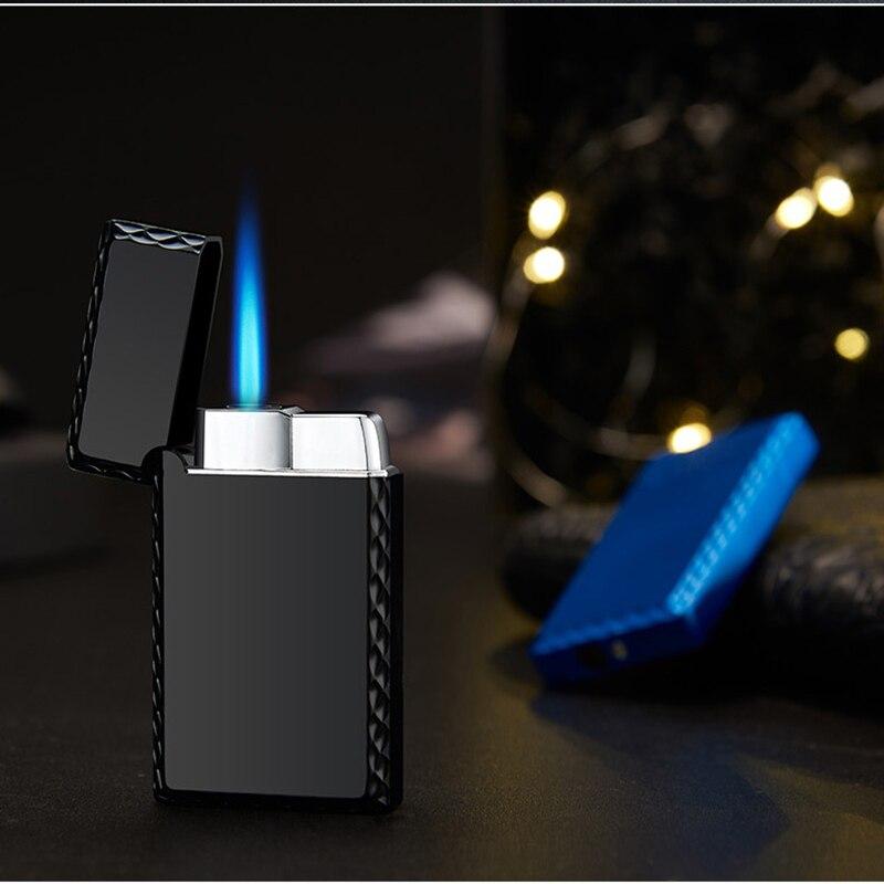 Прямо в синий Fmale огнестойкая ветрозащитная Зажигалка металлическая Encendedores покрытие надувные Isqueiro аксессуары для курения