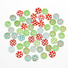Colorful wooden cute cartoon buttons children DIY puzzle material clothing accessories