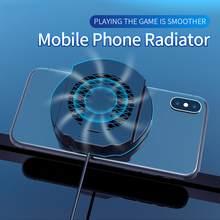 Jogo do radiador do telefone móvel universal refrigerador de telefone ajustável ventilador portátil titular dissipador calor para iphone samsung huawei xiaomi