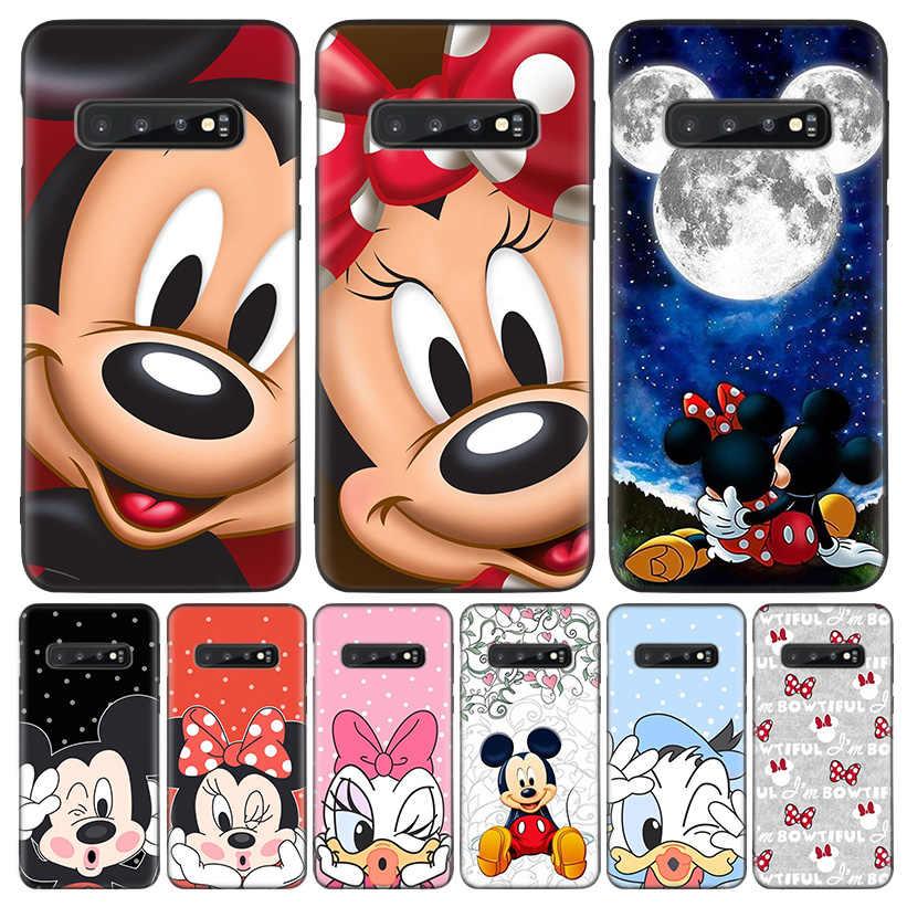 Myszka Minnie czarna obudowa etui na telefon do Samsung Galaxy S20 Ultra S10E uwaga 10 9 8 S9 S8 J4 J6 + Plus S7 S6 Capa Coque