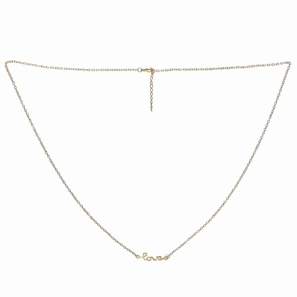 Tubuh Perhiasan Mutiara Imitasi Kalung & Liontin Hitam Emas/Perak Warna Kembali Rantai Panjang Kalung Fashion Perhiasan 1 Bikini