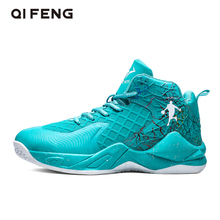 Basketball Shoes Men Sneakers Basket Shoes Children High Top Outdoor Sports Shoes Trainers Women Casual Basketball Shoes Boys cheap QIFENG Medium(B M) Medium cut Cotton Fabric 515hb ForMotion Lace-Up Spring2019 Fits true to size take your normal size