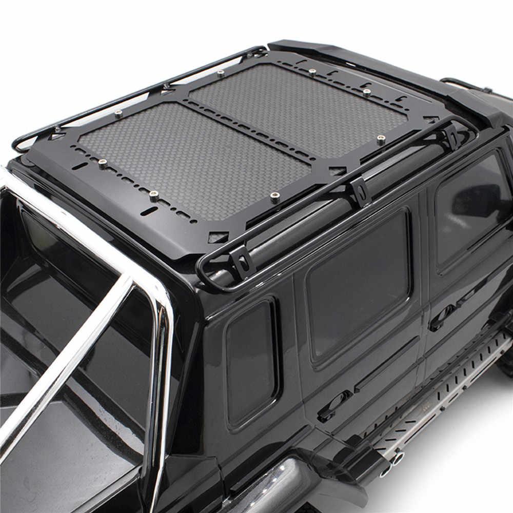 RC หลังคารถ Rack กระเป๋าเดินทางผู้ให้บริการสำหรับ TRAXXAS TRX6 G63 RC Crawler รถอะไหล่อุปกรณ์เสริมคาร์บอนไฟเบอร์หลังคาแผ่น