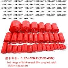 2 peças axial mkp 12 15 18 20 22 25 27uf 400v metal filme divisor de acoplamento capacitor ampl frete grátis