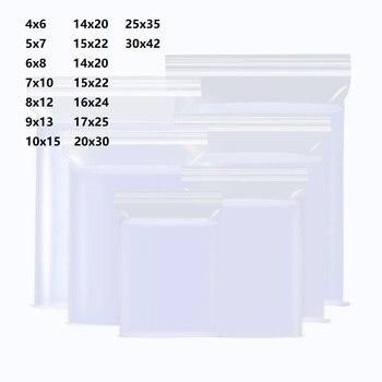Sachet zip Fermeture éclair sacs en pochette plastique emballage Transparent Poly fermeture éclair poche Ziplock Paquet Joint d'étanchéité refermable Sac Serrure Alimentaire Sac Sachet Glissière Bonbon Cuisine de Ménag