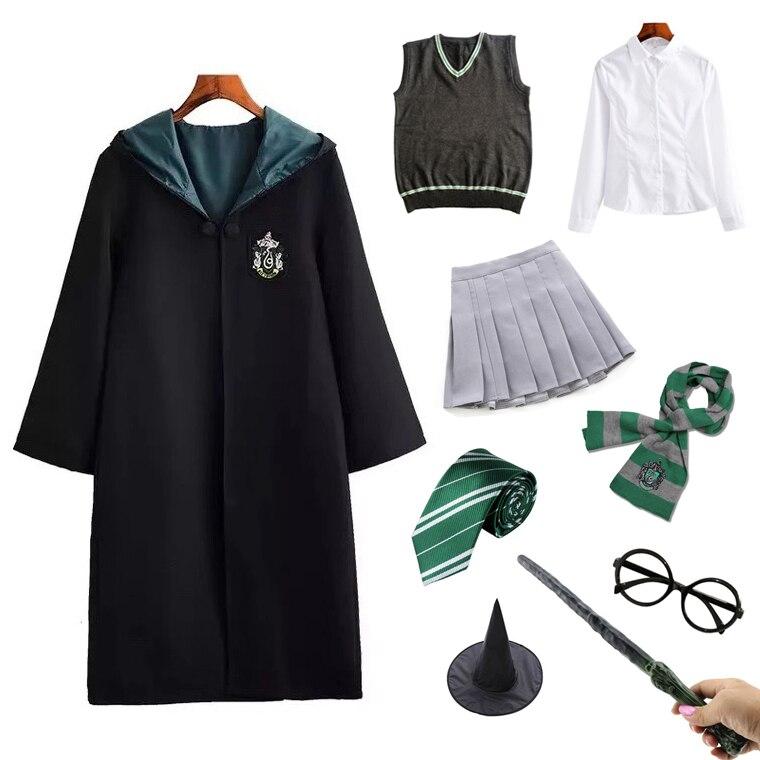 Potter kostüm sihirli okul Robe Cloak sihirbazı parti Cosplay Granger kostüm yetişkin çocuk cadılar bayramı kostüm