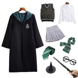 Potter Costume Magic School Robe Cloak Wizard Party Cosplay Granger Costume Adult Children Halloween Costume