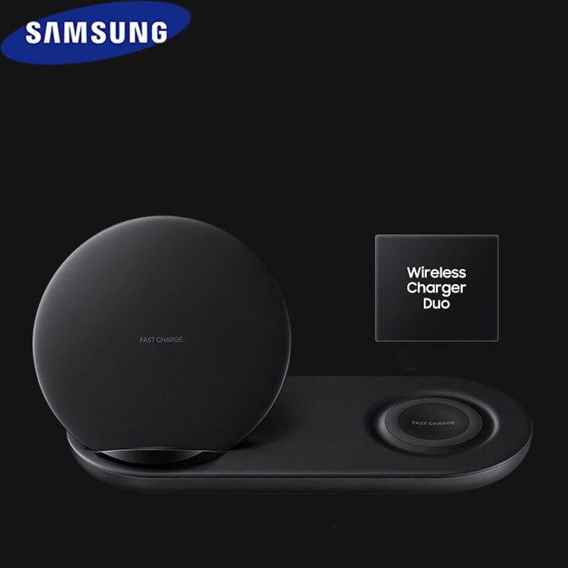 Original Samsung rápido cargador inalámbrico Qi de carga dual adaptador para Galaxy s8 s9 s10 plus Nota 8 9 10 +/iPhone X XR XS 8 EP-N6100 Versión mundial Realme Pro X2 X2 8 GB 128 GB del teléfono móvil Snapdragon 855 Plus 64MP cámara Quad NFC teléfono móvil de 50W Cargador Rápido