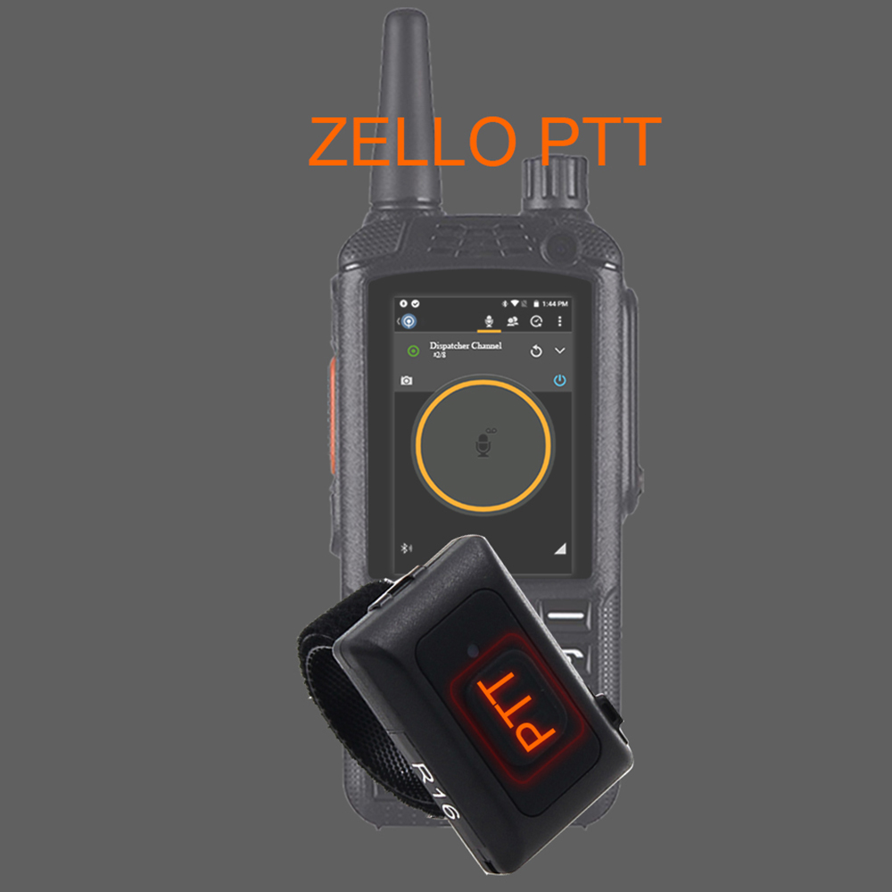 2019 Wireless Bluetooth Hands-free PTT  Walkie Talkie Button For Android Low Energy For Zello Work