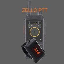 2020 سماعة لاسلكية تعمل بالبلوتوث حر اليدين PTT لاسلكي تخاطب زر لنظام أندرويد منخفضة الطاقة للعمل Zello