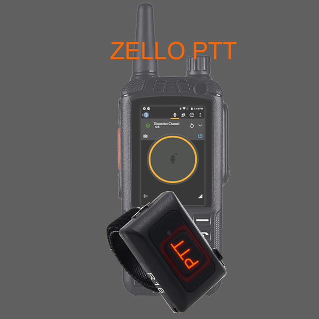 2020 Wireless Bluetooth Hands-free PTT  Walkie Talkie Button for Android Low Energy for Zello Work