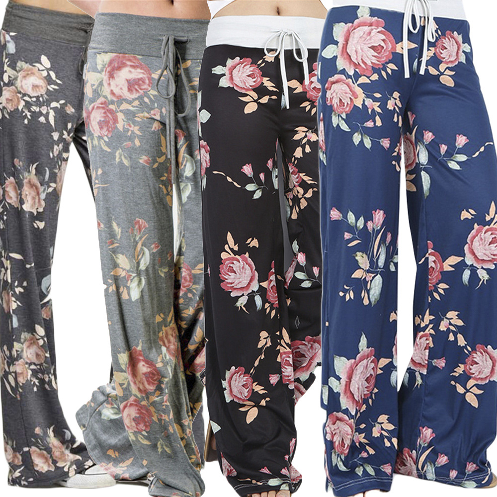 S2009 (Sold Out Lower Rack) Dunhuang Amazon Hot Selling Europe And America Yoga Pants Printed Loose Pants Four Colors S-3XL