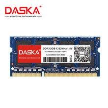 DASKA Laptop RAM DDR3 2GB 4GB 1600/1333 MHz SO-DIMM DDR3 dizüstü bellek 204pin 1.5V ömür boyu garanti