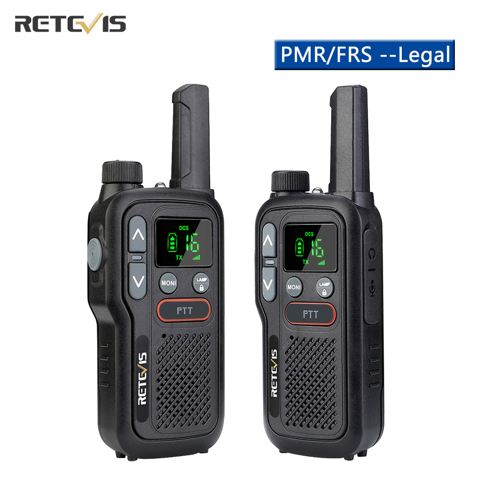 Retevis RB618 мини рация перезаряжаемая рация 1 или 2 шт. PTT PMR446 переносная двухсторонняя рация для охоты