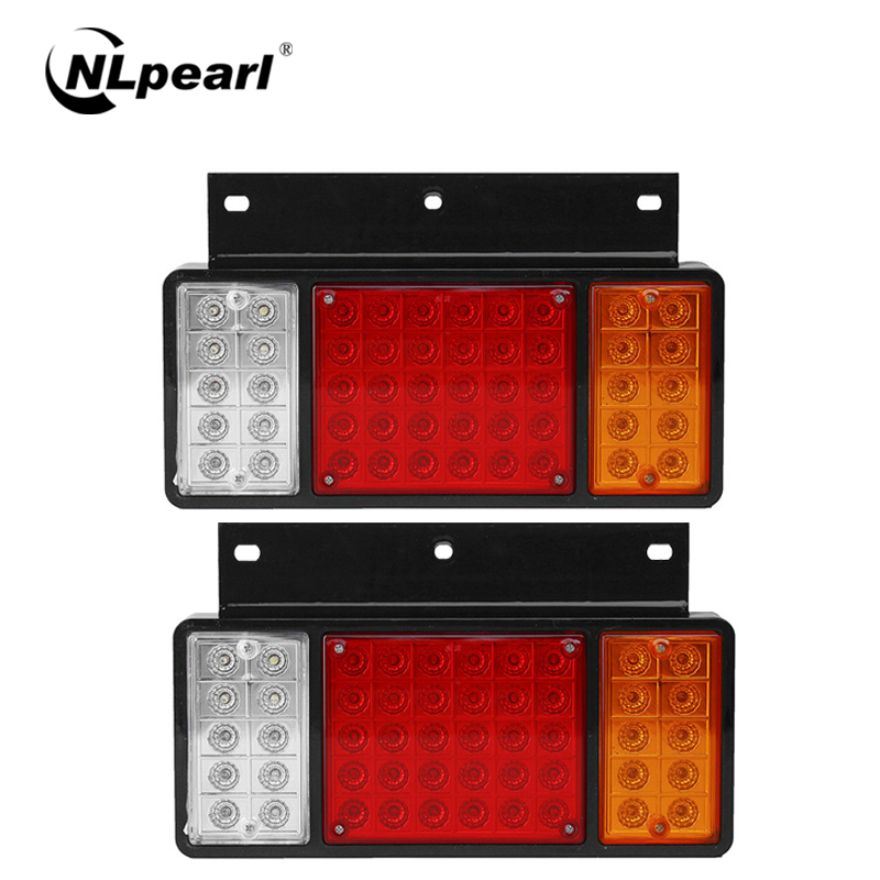 Nlpearl Car Light Assembly 50 LED Rear Tail Light High Quality Super Bright LED Tail Lamps For Truck Off-Road ATV  Car12V 24V