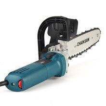 1000W 11000rpm 6 prędkości regulowany elektryczny 100 szlifierka kątowa + M10 piła łańcuchowa do cięcia drewna Chainsaw wspornik zmień szlifierka