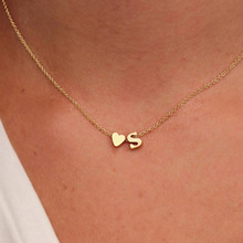 Initial Necklace Jewelry Name Choker Gift Letter Women Pendant Dainty Gold-Silver-Color