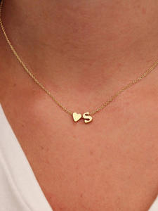 Jewelry Gift Initial Necklace Name Choker Letter Women Pendant Tiny SUMENG Dainty Gold-Silver-Color