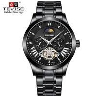 탑 럭셔리 브랜드 tevise 시계 남성 기계식 시계 럭셔리 뚜르 비옹 자동 기계식 시계 스테인레스 스틸 시계