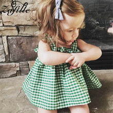 baby girls boutique clothing girls kid back to school outfits girls car camper school clothing with pink ruffle shorts with bows ZAFILLE 2020 New Summer Girls Clothing Skirt+Shorts Outfits Kid Sleeveless Clothes Plaid Baby Girl Clothes Infant Sets Baby Suit