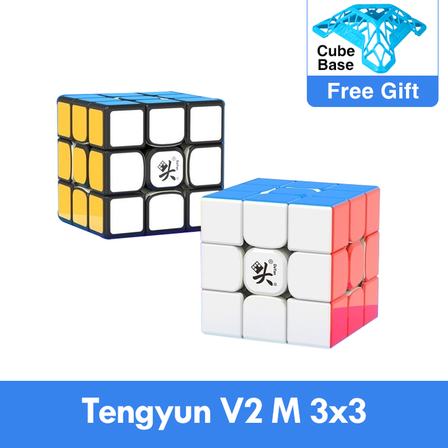 Original Newest Dayan tengyun V2 M Magnetic 3x3x3 Cube Cubo Magico 3x3 with Magnets Educational Toys for kids Gifts Tengyun V2M 1