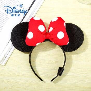 Disney 3D Mickey Minnie Ears Disneyland Hair Hoop Beauty And Beast Headband Party Headwear Girl Toys Birthday Party Decoration disney press beauty and the beast