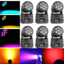 6xLot LED Moving Head Mini Wash 7x10W RGBW Quad with Advanced 14 Channels LED Effect Stage Light Factory Price Disco Party Clubs mini hot wheels pull back car toys vehicle children racing car baby cars cartoon pull back aircraft truck kids toys for boy gift