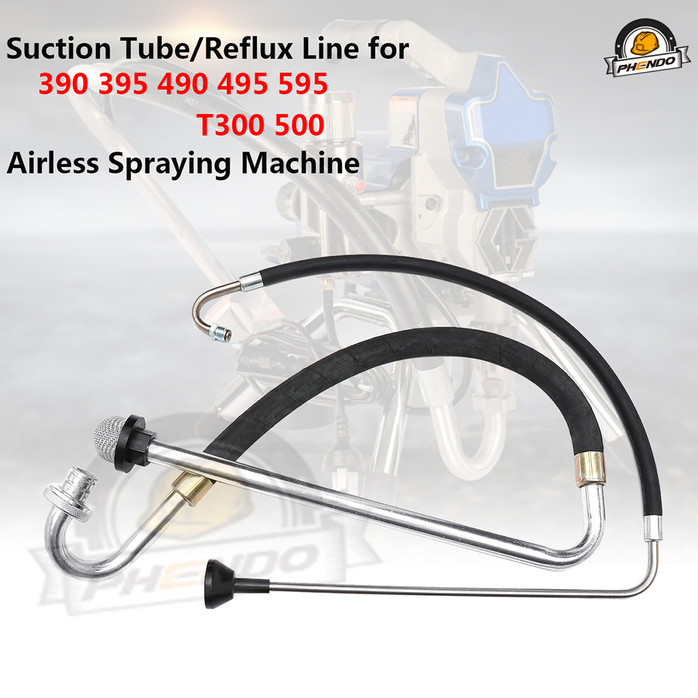 PHENDO Suction Tube Reflux Line Intake Hose Airless Paint Sprayer Accessories 246386  246381 for Graco 390 395-595 ST Ultra 395