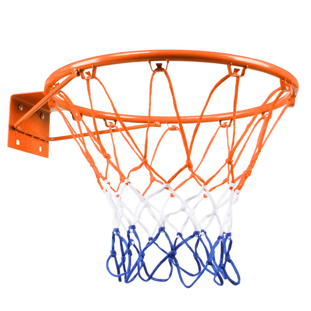 32cm Hanging Basketball Wall Mounted Goal Hoop Rim Net Iron Sports Netting Indoor Outdoor Children Basketball Rim