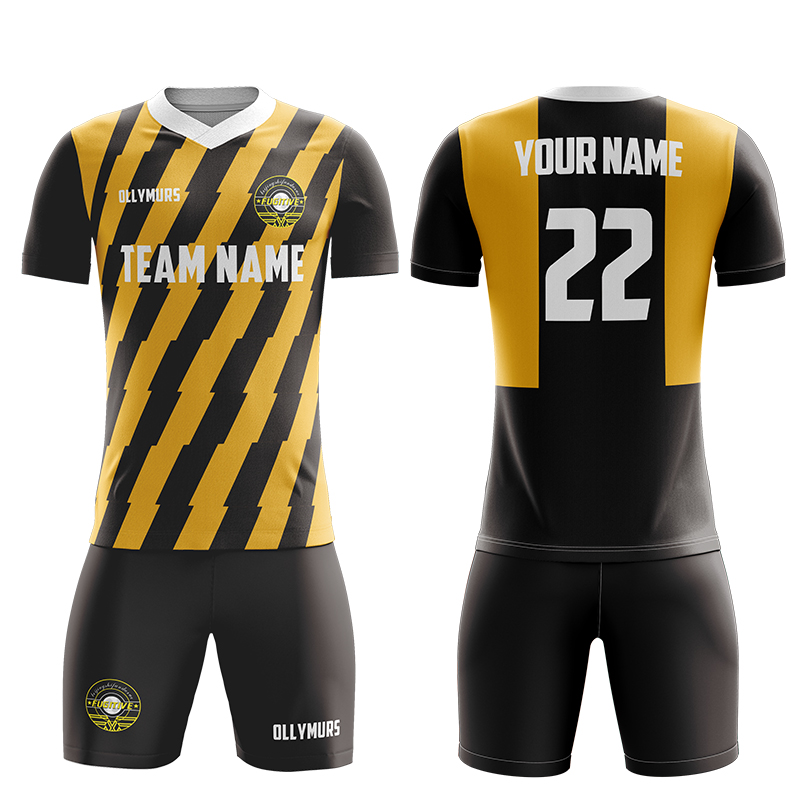 19//20 Soccer Football Kids Youth Custom Kit Strips Team Sports Training Outfit