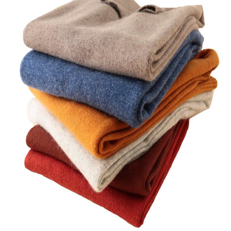 LONGMING 100% Merino Wool Winter Cashmere Sweater Women Turtleneck Pullover Winter Clothes Women Jumper Knitted Sweater