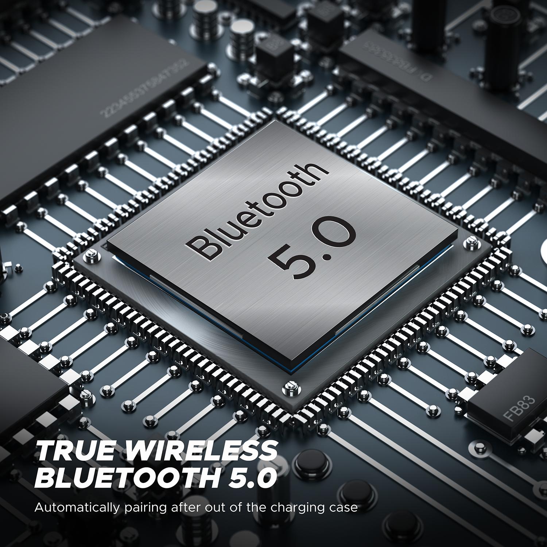 SoundPEATS prawdziwe bezprzewodowe wkładki douszne Bluetooh 5.0 douszne słuchawki TWS Auto-Pair bezprzewodowe słuchawki z mikrofonem z mikrofonem wysokiej rozdzielczości