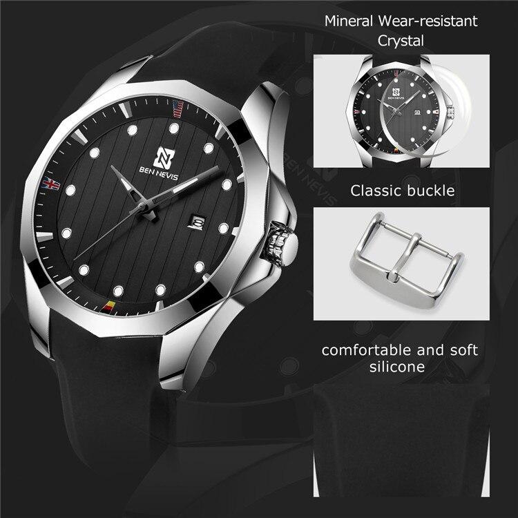 relógio de quartzo dos homens relógios marca