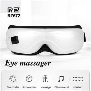 Image 5 - DZYTE Smart Eye Massagerไร้สายElectric Eye Massager Airการบีบอัดการสั่นสะเทือนแม่เหล็กอุ่นแว่นตาAnti Wrinkle Eye Care