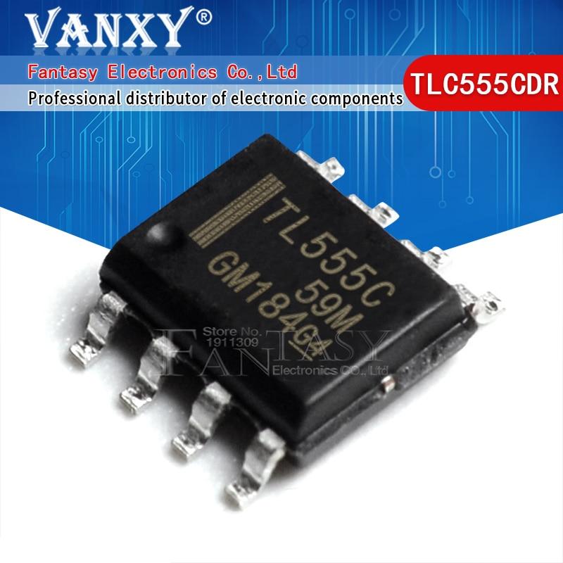 10 шт. TLC555CDR лапками углублением SOP-8 TL555C SOP8 TLC555 SOP TLC555CD