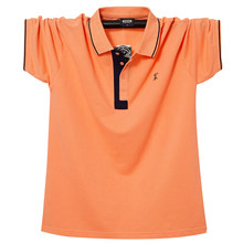 3XL 4XL 5XL 6XL large size loose short-sleeved polo shirt 2021 summer classic brand men's business casual lapel solid color POLO