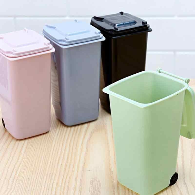 Mini Car Home Trash Rubbish Waste bin Foldable Storage Dustbin Litter Bracket