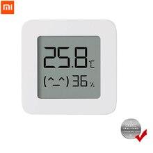 XIAOMI Mijia termómetro Bluetooth 2, higrómetro eléctrico inteligente Digital inalámbrico, funciona con la aplicación Mijia con batería