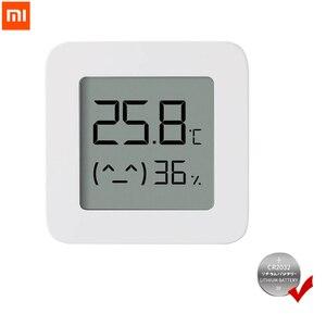 Image 1 - XIAOMI Mijia termometro Bluetooth 2 termometro igrometro digitale elettrico intelligente senza fili funziona con lapp Mijia con batteria