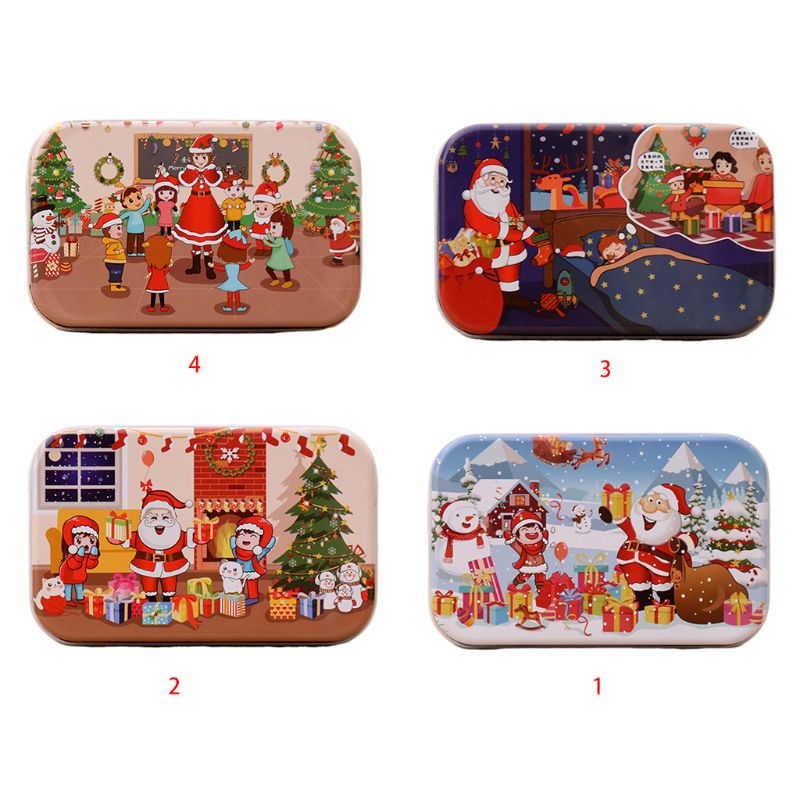 60 Pieces Kids Educational Toy Children Wooden Jigsaw Puzzle Christmas Santa Claus Educational Toy
