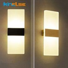 Mini lampe murale en acrylique au design moderne simpliste, luminaire décoratif d'intérieur, idéal pour une chambre à coucher, un salon, une table de chevet ou des escaliers, 85/265V
