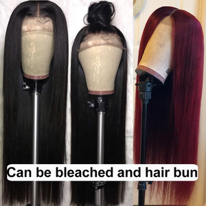 Image 5 - 13x6 Brazilian Straight Hair Lace Front Wigs With Baby Hair Bleached Knots Lace Front Human Hair Wigs Pre Plucked For Women Remy