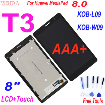 AAA+ LCD Replacement 8 For Huawei MediaPad T3 8.0 KOB-L09 KOB-W09 LCD Display Touch Screen Digitizer Assembly for Huawei T3 LCD aaa 8 0 replacement lcd for lenovo yoga tablet 8 b6000 60044 lcd display touch screen digitizer assembly for b6000 h lcd