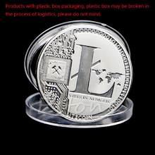 Pièces de monnaie en argent plaqué 25 Litecoin, Vires en chiffres, Collection de pièces commémoratives