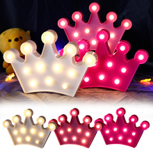 Crown LED Light Night light Romantic Lamp Home Decor 3D Fashion D40