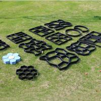 HiMISS Paving Cement Brick Molds DIY Plastic Path Maker Mold Garden Stone Road Concrete Molds For Garden Home|Paving Molds| |  -