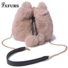2019 New Fashion Rabbit Fur Handbags Casual Cute Bag Girls Cross-body with one Shoulder Son Mother Autumn and Winter Fur Bags цена