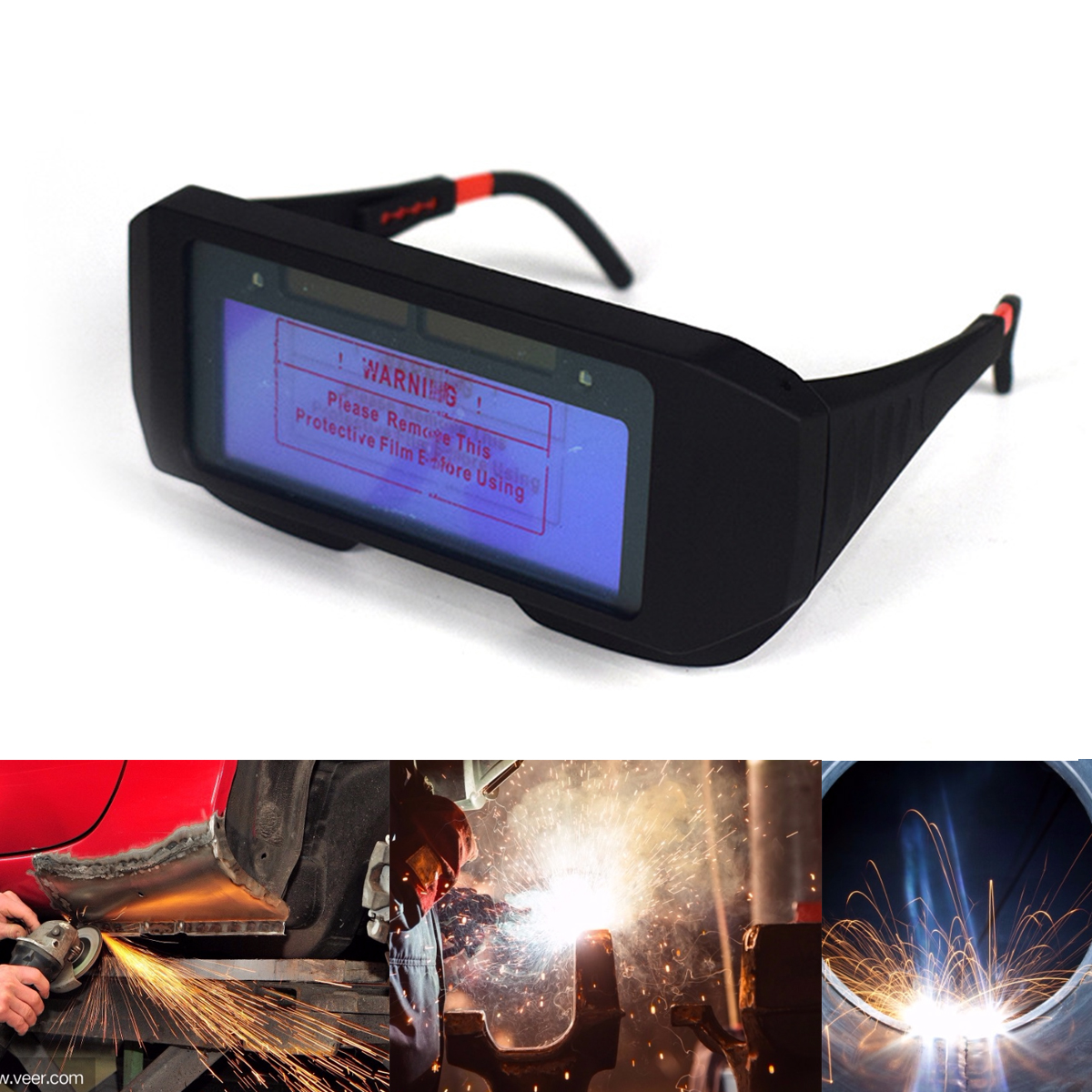 2020 Safety Mask Automatic Eyes Goggles Solar Glasses Thickness Lens Welding Photoelectric Helmet For Construction Welding Work